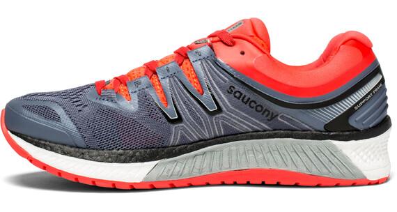 saucony Hurricane ISO 4 - Zapatillas para correr Mujer - gris/rojo